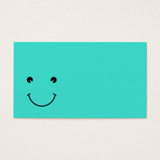 Turquoise  Smile Business Card