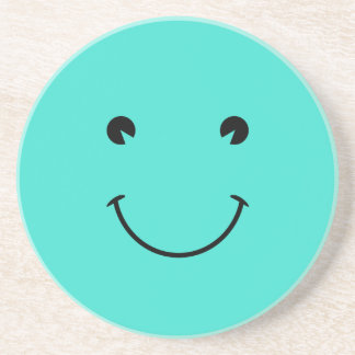 Turquoise  Smile Beverage Coaster