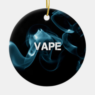 Turquoise Smoke Vape On Ceramic Ornament