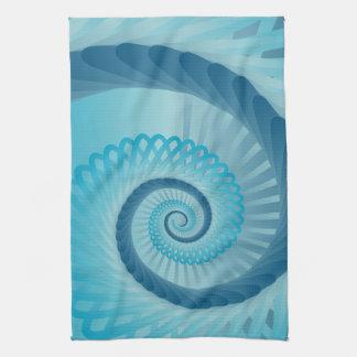 Turquoise Spiral Tea Towel