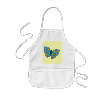 Turquoise Spotted Butterfly Apron