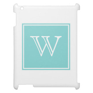 Turquoise Square Monogram iPad Cases