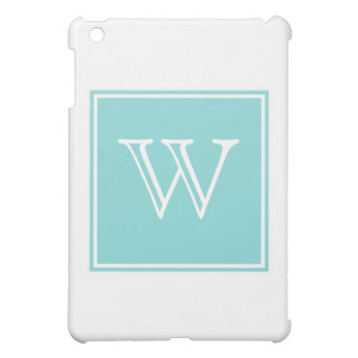 Turquoise Square Monogram iPad Mini Cases