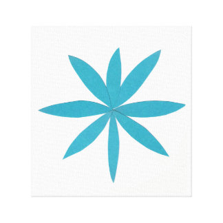 Turquoise Star Canvas Print