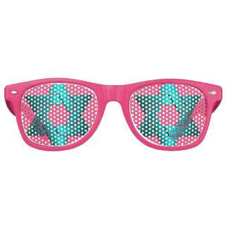 Turquoise Star of David Bat Mitzvah Retro Sunglasses