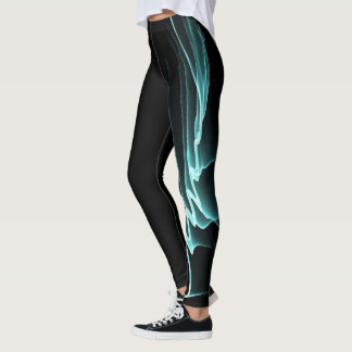 Turquoise streaks leggings