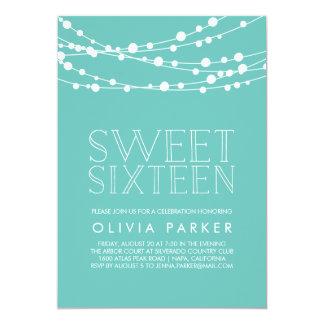 Tiffany Blue String Lights : Tiffany Sweet Sixteen Invitations & Announcements Zazzle.com.au