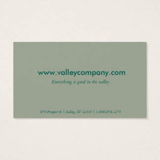 Turquoise Stripes Updated Vintage Business Card