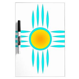 Turquoise Sun God Dry-Erase Board