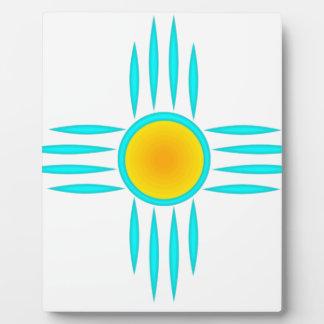 Turquoise Sun God Plaque