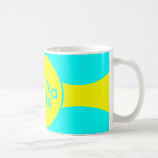 Turquoise & Sunshine Yellow Classic White Mug