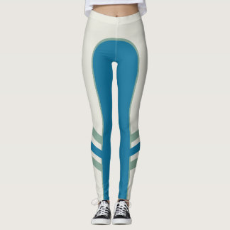 Turquoise Tamed Side Band Leggings
