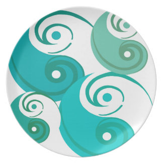 Turquoise Tao Plate