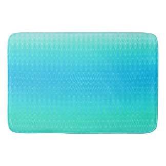 Turquoise Teal Blue Green Abstract Pattern Bath Mat