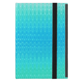 Turquoise Teal Blue Green Abstract Pattern Cover For iPad Mini
