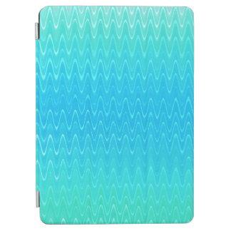 Turquoise Teal Blue Green Abstract Pattern iPad Air Cover