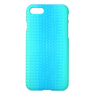 Turquoise Teal Blue Green Abstract Pattern iPhone 8/7 Case