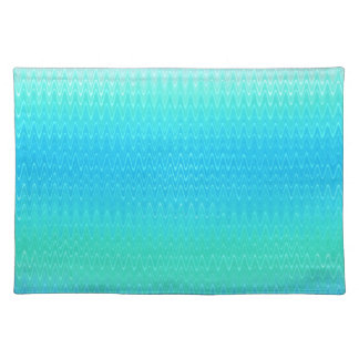 Turquoise Teal Blue Green Abstract Pattern Placemat