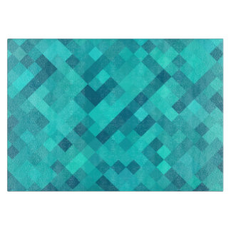 Turquoise Teal Blue Pattern Cutting Board
