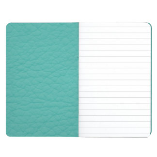 Turquoise Teal Retro Trendy Custom Leather Journal