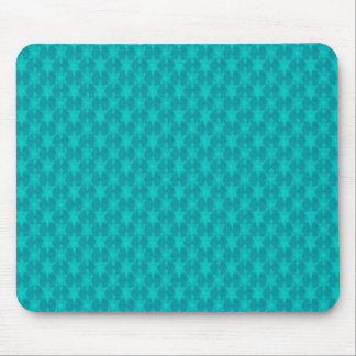 Turquoise Teal Stars Mouse Pad