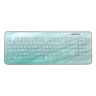Turquoise Teal Transparent Mildly Lightblue Wireless Keyboard
