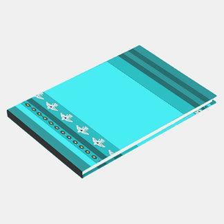 Turquoise Thunderbirds Blue Stripes Guest Book