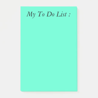 Turquoise To Do List Post-it Post-it Notes