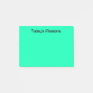 Turquoise Today's Missions Post-it Notes