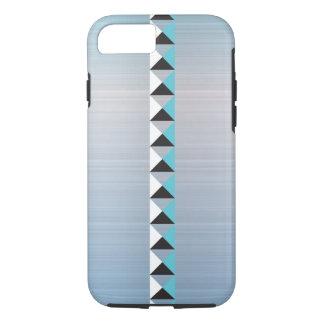 Turquoise tone and faux brushed stainless steel iPhone 8/7 case
