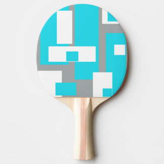 Turquoise Tranquility Funky Ping Pong Paddle