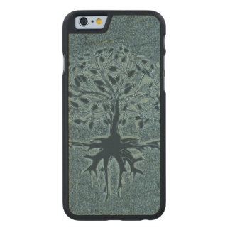 Turquoise Tree of Life Carved Maple iPhone 6 Case