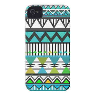 Turquoise Tribal 2 Pattern Case-Mate iPhone 4 Cases
