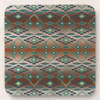 Turquoise Tribal Ombre' Coaster