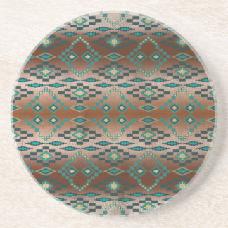 Turquoise Tribal Ombre' Coasters
