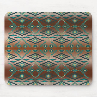 Turquoise Tribal Ombre' Mouse Pad