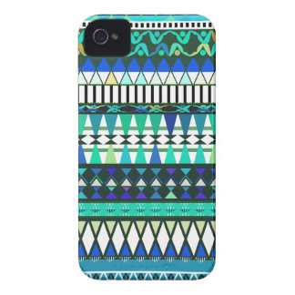 Turquoise Tribal Pattern iPhone 4 Case-Mate Case