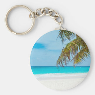 Turquoise Tropical Beach Keychains