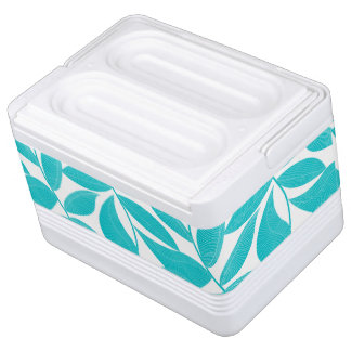 Turquoise tropical leaves cooler