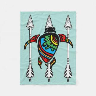 Turquoise Turtle Fleece Blanket