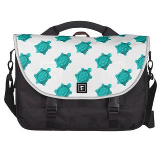 Turquoise Turtles Pattern Laptop Computer Bag