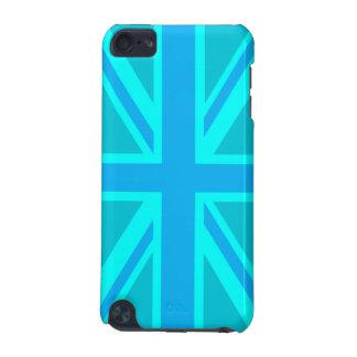 Turquoise Union Jack British Flag Customise it iPod Touch 5G Cases