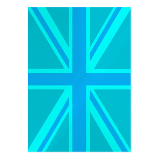 Turquoise Union Jack British Flag Design Pack Of Chubby Business Cards