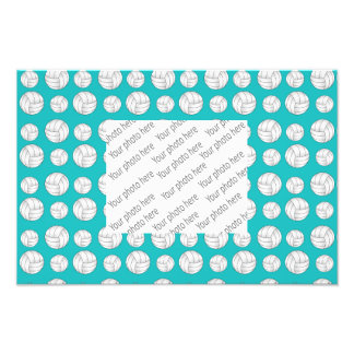Turquoise volleyballs pattern photograph