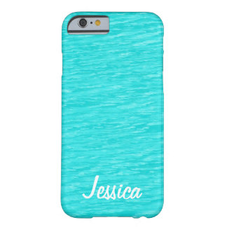 Turquoise Water - Personalized Name iPhone 6 Case