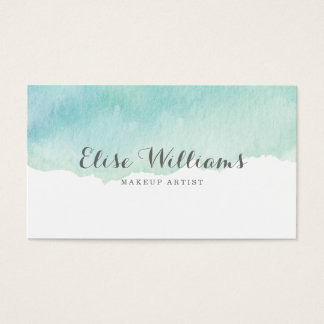 Turquoise Watercolor Business Card