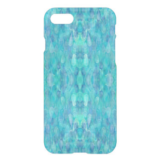 Turquoise Watercolor Kaleidoscope iPhone Case