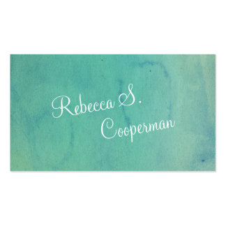 Turquoise Watercolor Pack Of Standard Business Cards