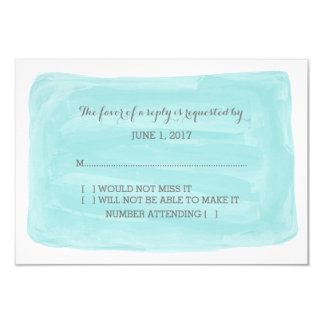 Turquoise Watercolor RSVP Card