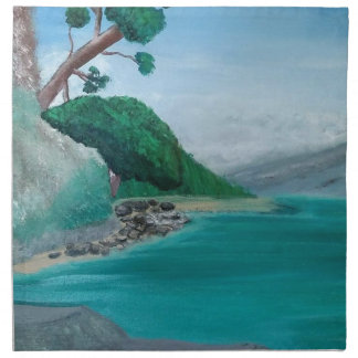 Turquoise Waters Large Napkin